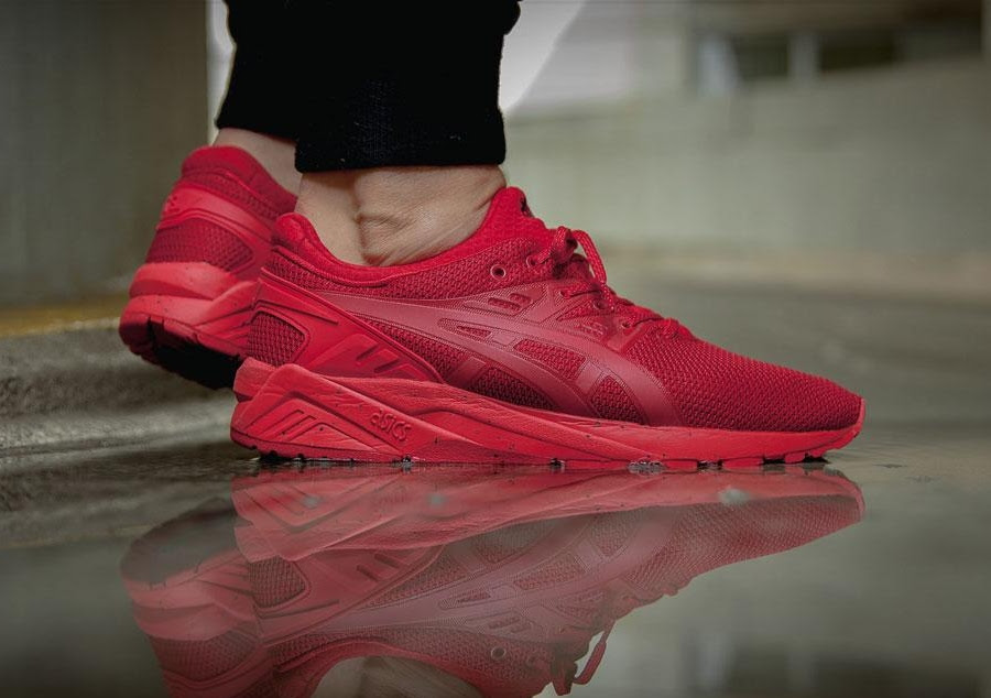 """8ac086ad692a ASICS GEL KAYANO TECH PACK """"TRIPLE BLACK   ALL RED"""" – Hard 2 Knock ..."""