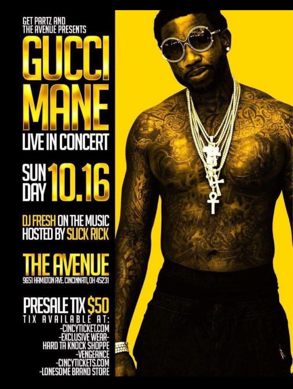 cabc99aa49c GUCCI MANE LIVE IN CONCERT   THE AVENUE IN CINCINNATI 10.16.16 ...